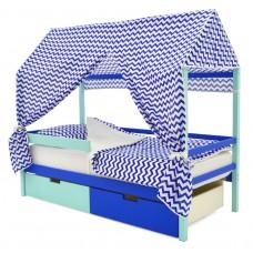 Кровать-Домик «Svogen мятно-синий»