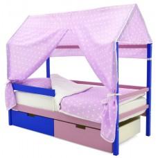 Кровать-Домик «Svogen синий-лаванда»