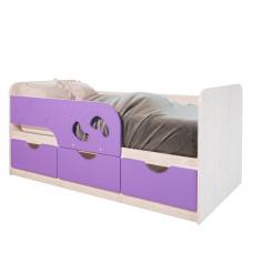 Кровать Минима лиловый сад 1.6