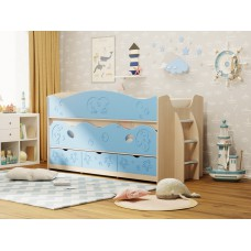 Детская выдвижная кровать Омега-10