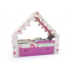 Кровать-домик «SCANDI» Розовый