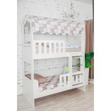 Кровать двухъярусная Домик ЛДСП